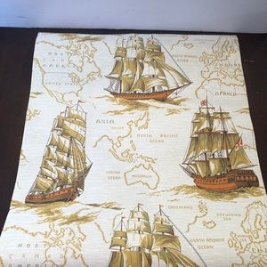 Vintage Sailboat Wallpaper.